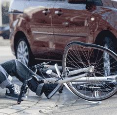 Fietser en ongeval
