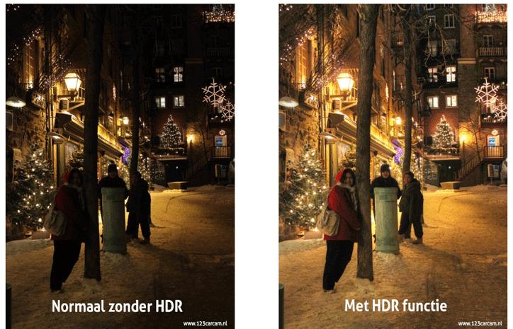 Dashcam HDR functie