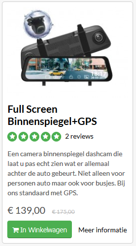 Binnenspiegel GPS dashcam