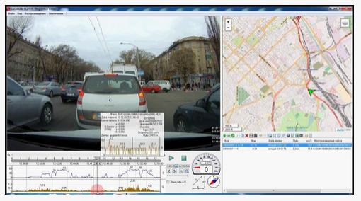 Dashcam player GPS