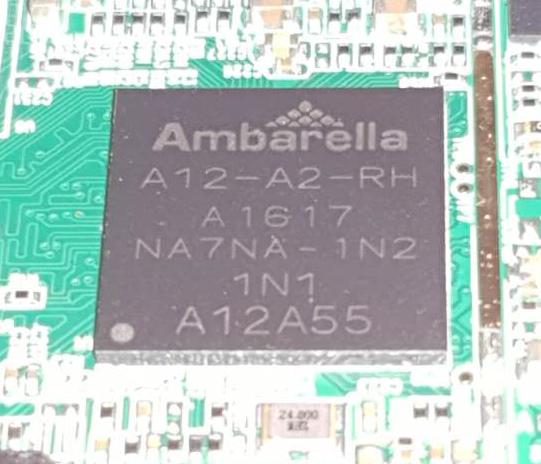 Ambarella A12A55 dashcam CPU porcessor