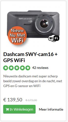 SWY cam 16+GPS en Wifi